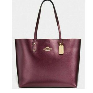 NWT Coach Gallery Town Metallic Wine Wine
